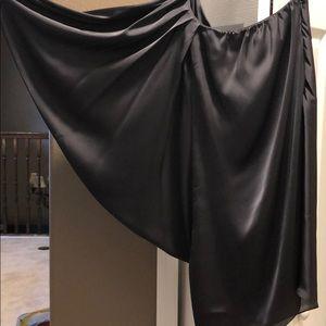 Aiden Mattox one shoulder silky grey dress